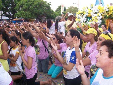 A Bênção da chegada na Catedral da Conceição